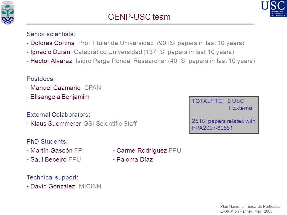 GENP-USC team Senior scientists: