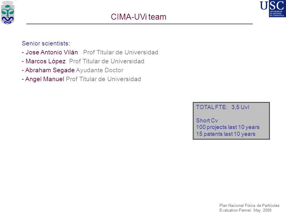 CIMA-UVi team Senior scientists: