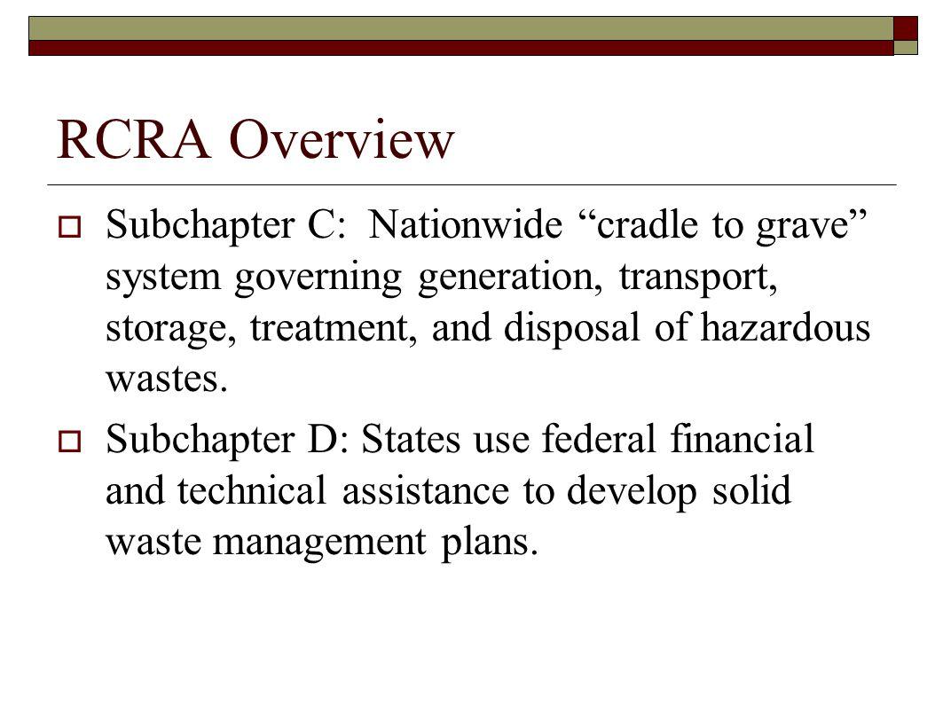 RCRA Overview