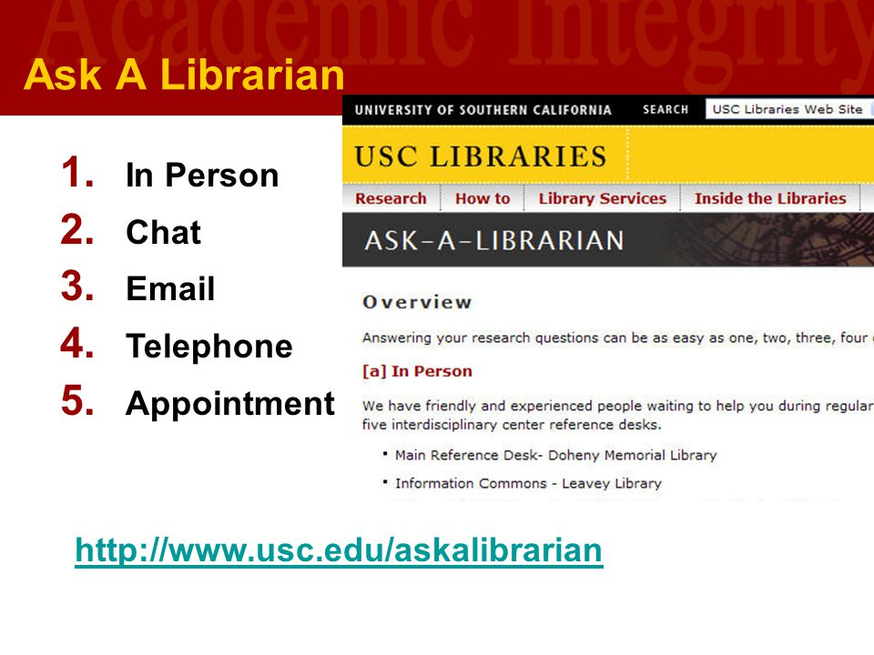 Ask A Librarian In Person Chat Email Telephone Appointment