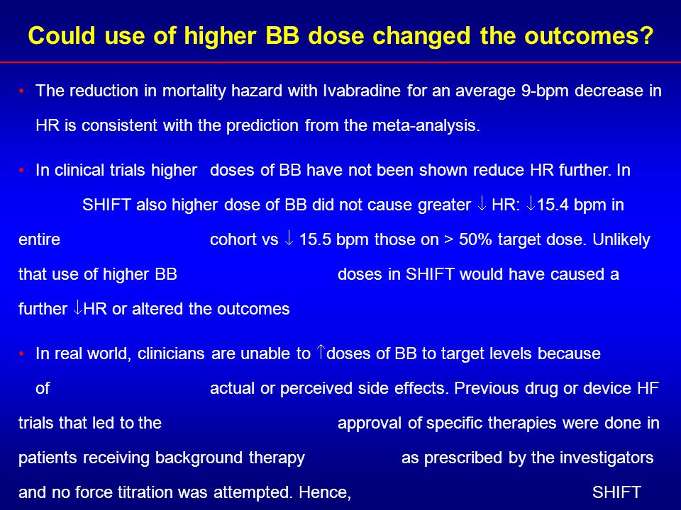 Could use of higher BB dose changed the outcomes
