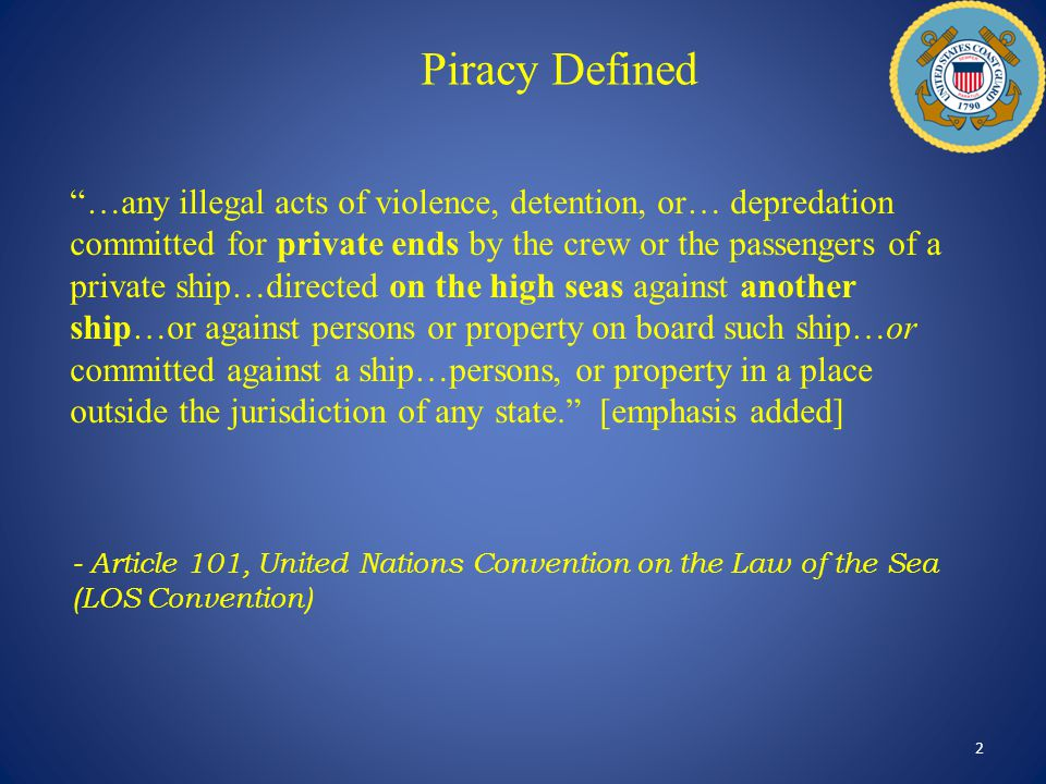 Piracy Defined