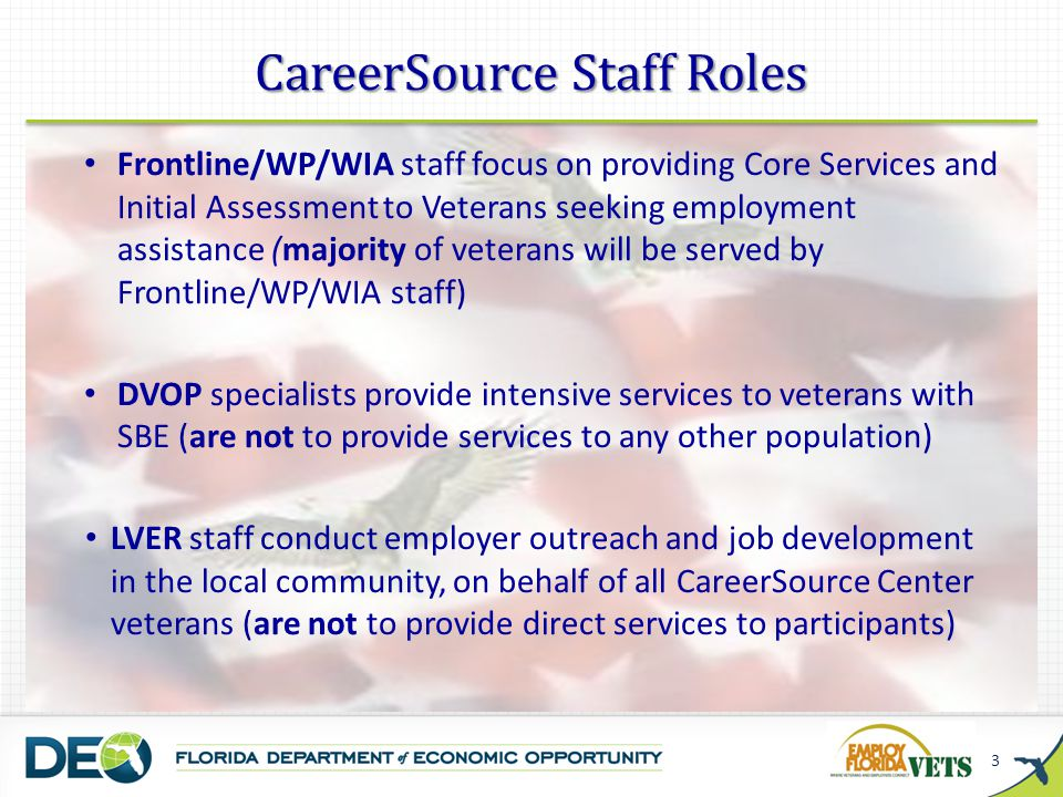 CareerSource Staff Roles