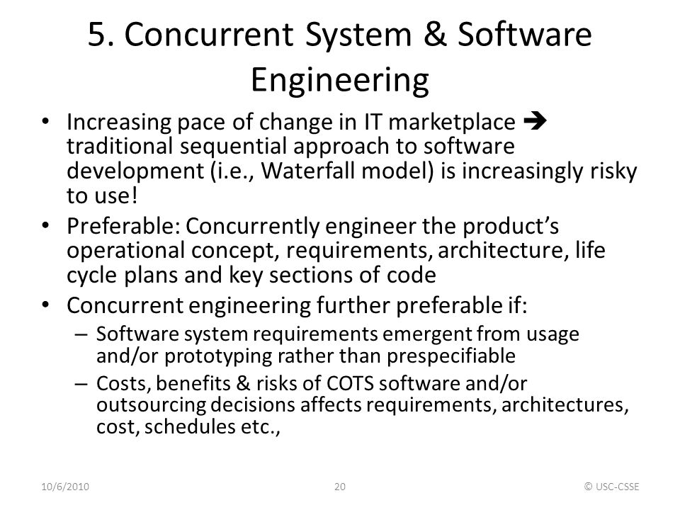 5. Concurrent System & Software Engineering