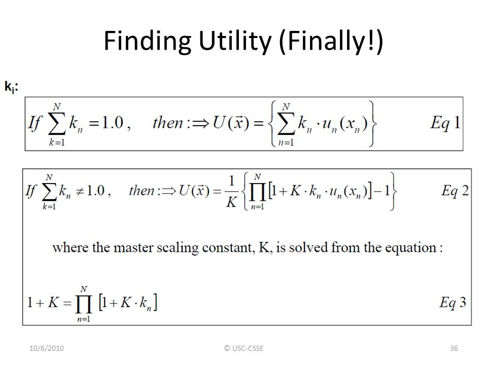 Finding Utility (Finally!)