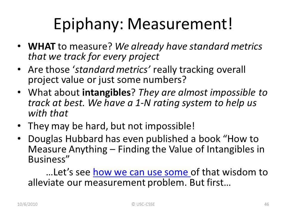 Epiphany: Measurement!