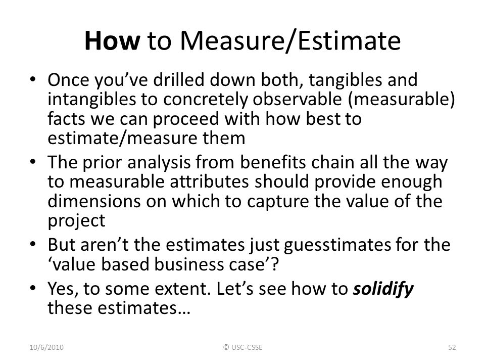 How to Measure/Estimate