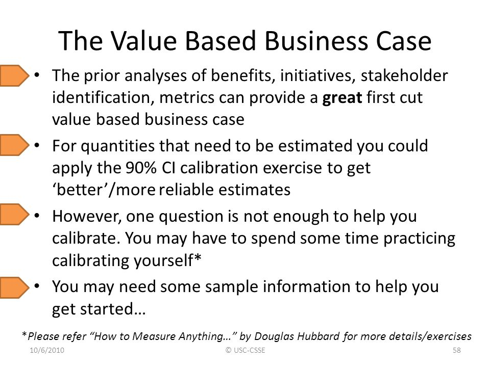 The Value Based Business Case