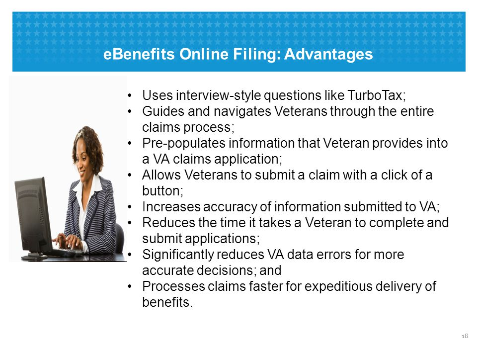 eBenefits Online Filing: How To File an Electronic FDC For Compensation Benefits
