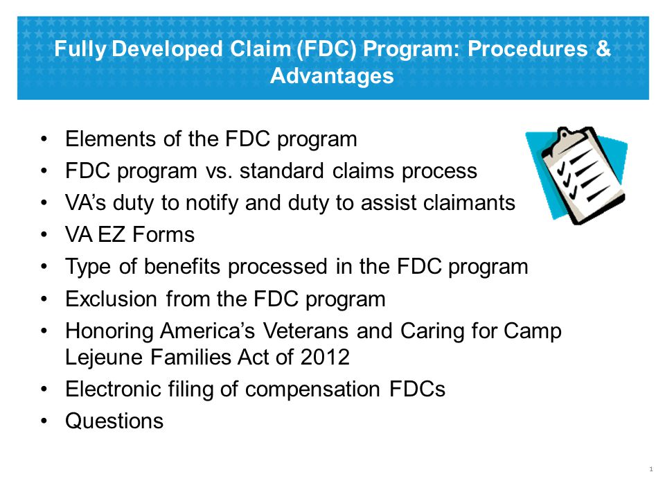 What Is the Fully Developed Claim Program