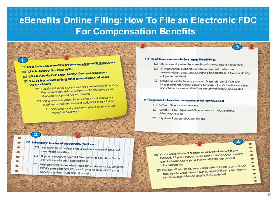 eBenefits Online Filing: Home Page