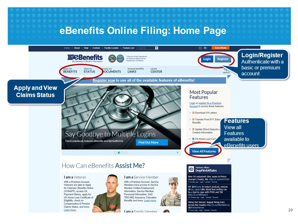 eBenefits Online Filing: Overall Process