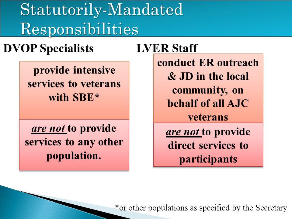 Statutorily-Mandated Responsibilities