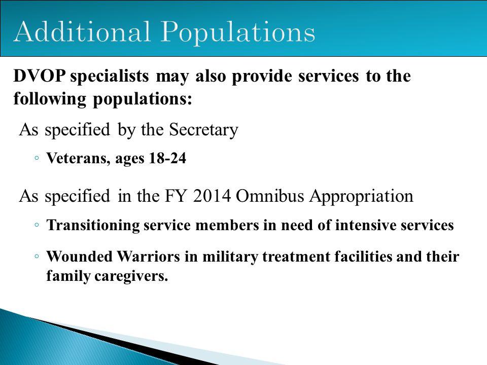 Additional Populations