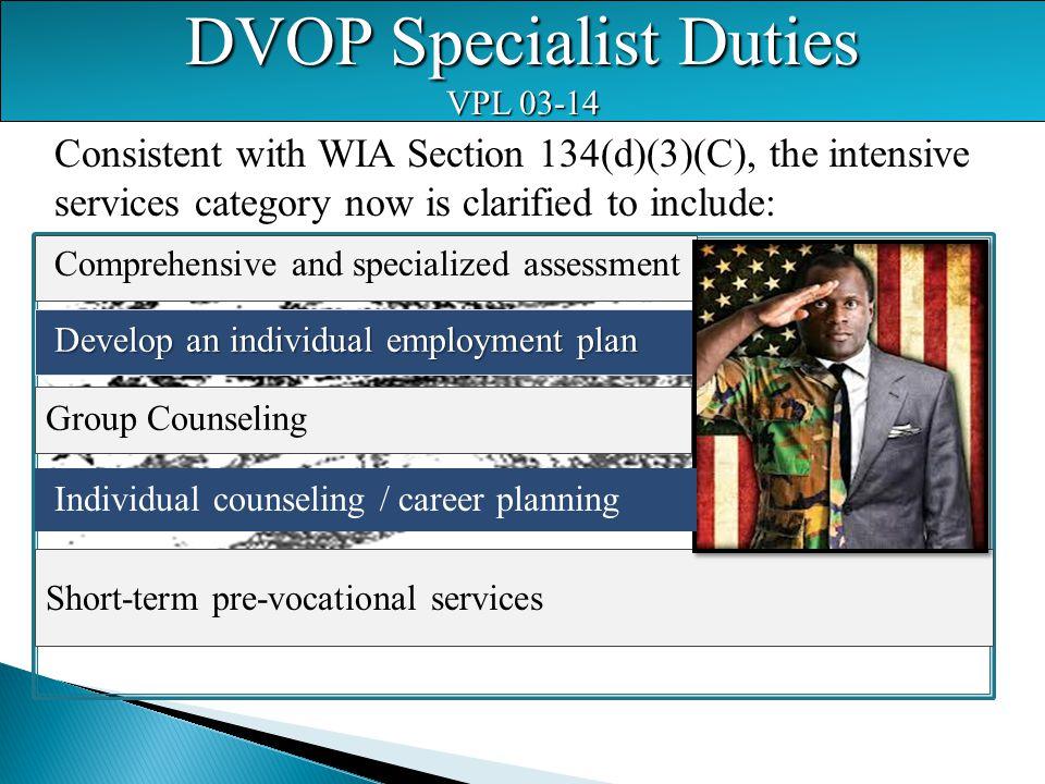 DVOP Specialist Duties