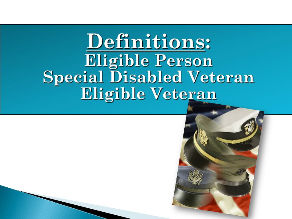Special Disabled Veteran