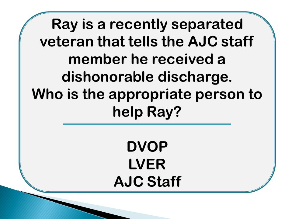 Who is the appropriate person to help Ray