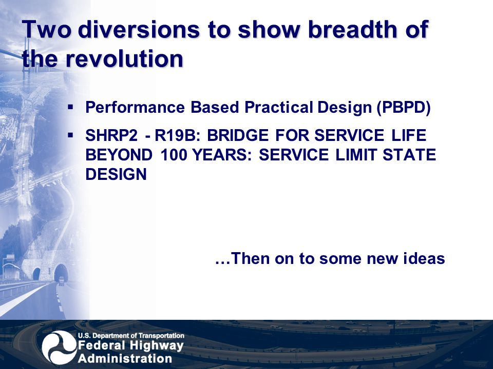 Two diversions to show breadth of the revolution