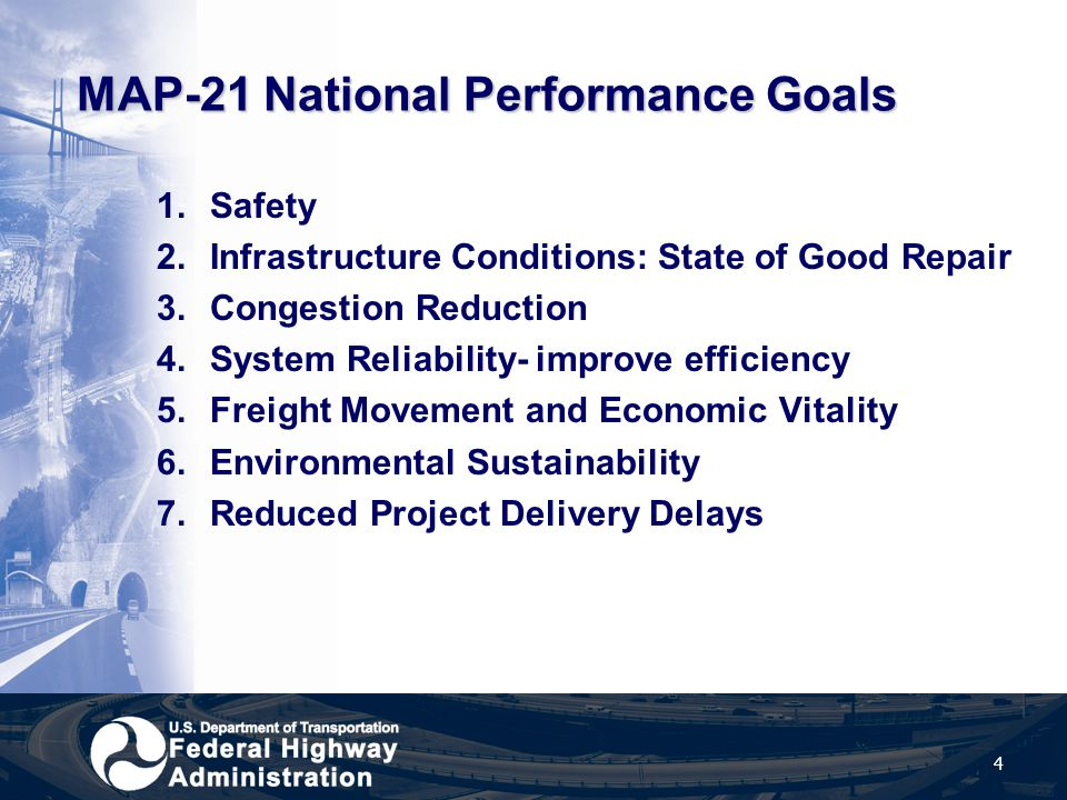 MAP-21 National Performance Goals