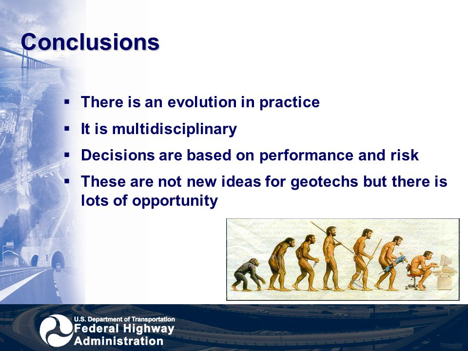 Conclusions There is an evolution in practice It is multidisciplinary
