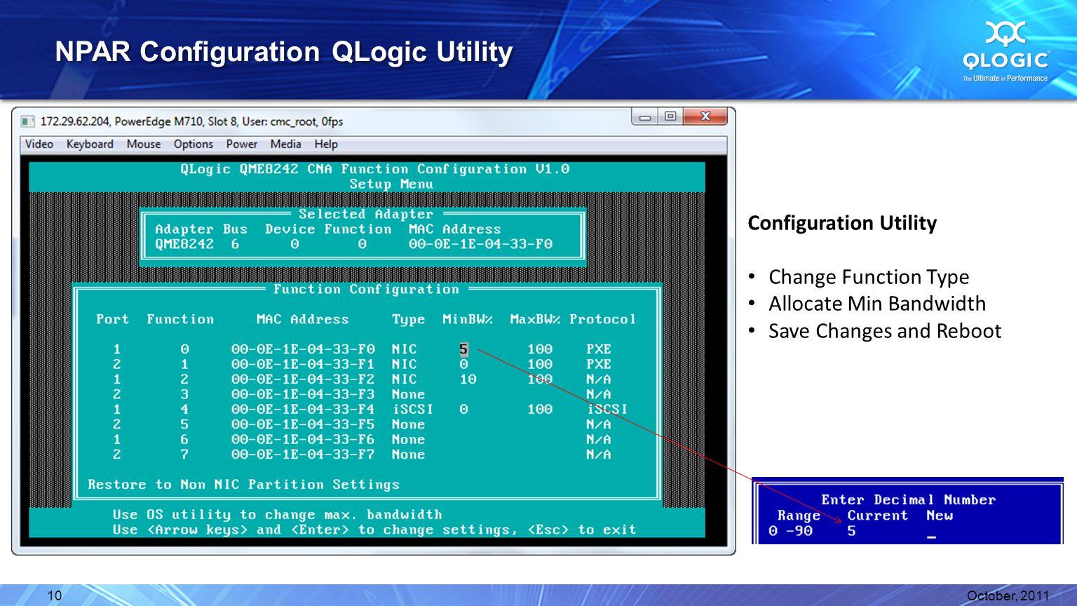 NPAR Configuration QLogic Utility