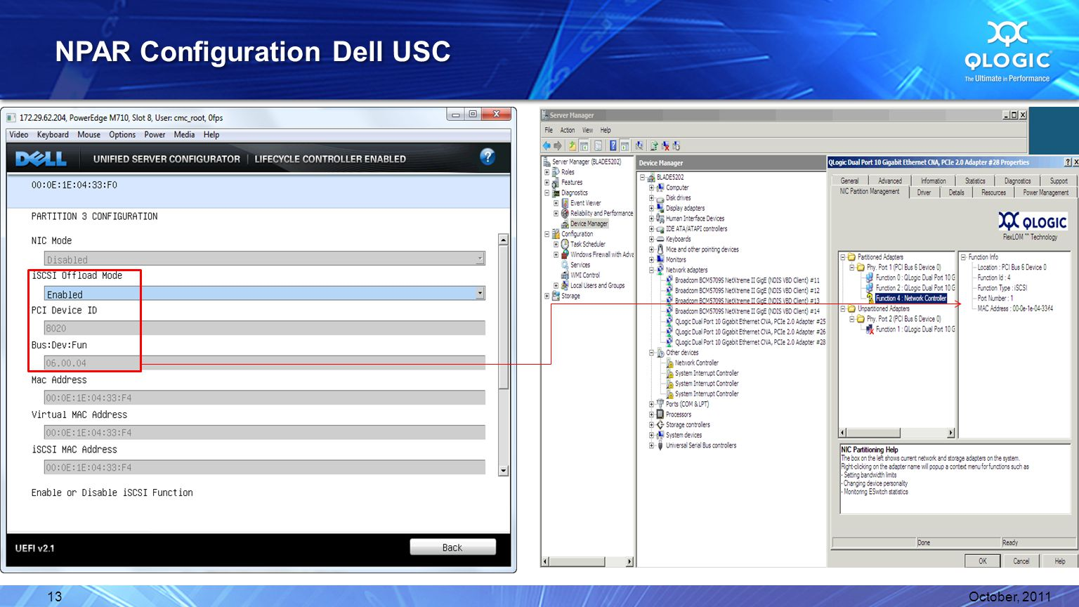 NPAR Configuration Dell USC