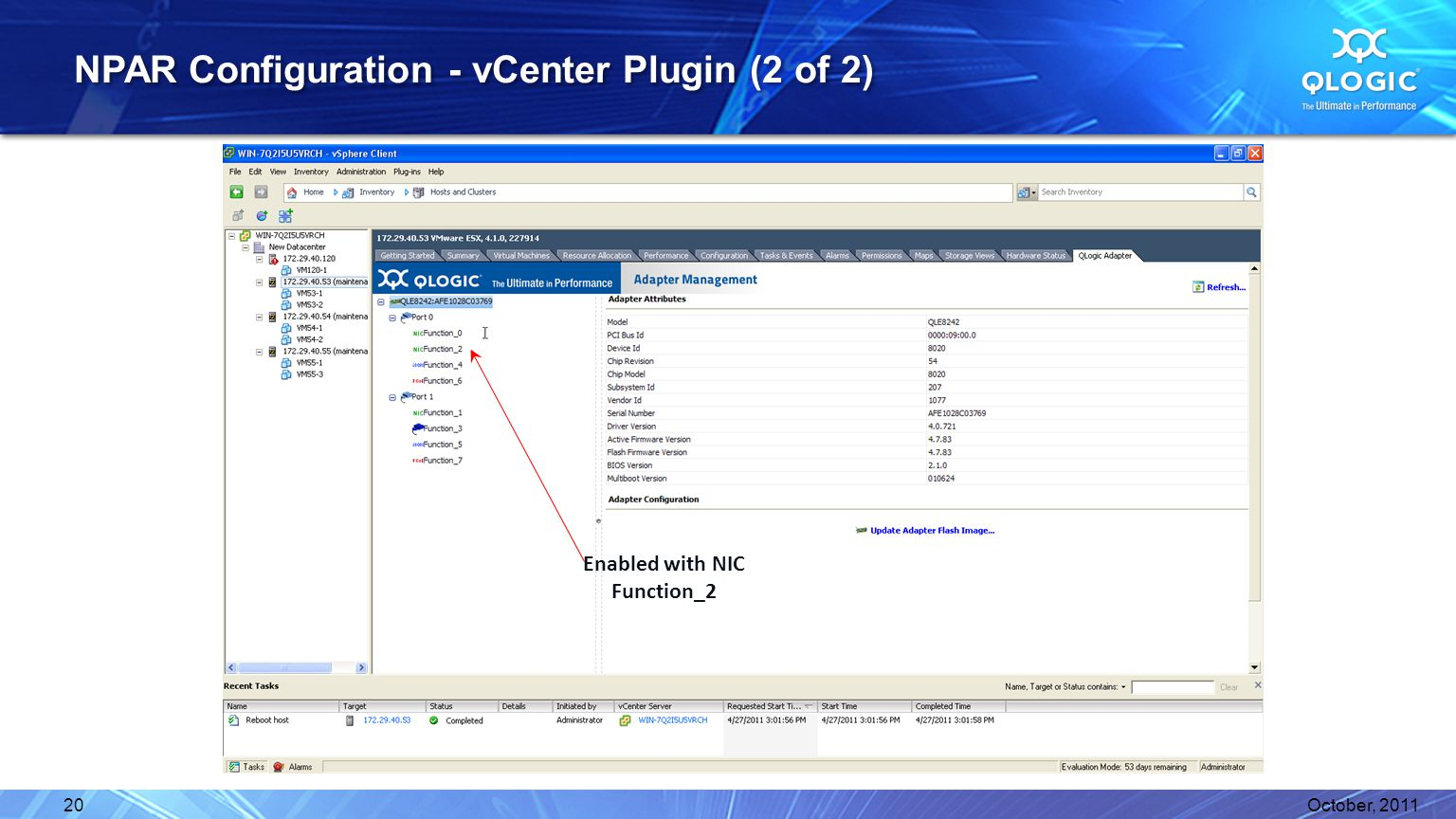 NPAR Configuration - vCenter Plugin (2 of 2)