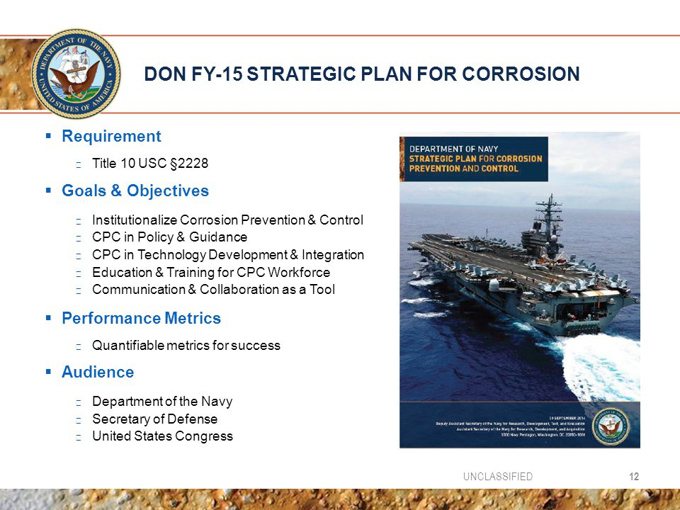 DON FY-15 STRATEGIC PLAN FOR CORROSION
