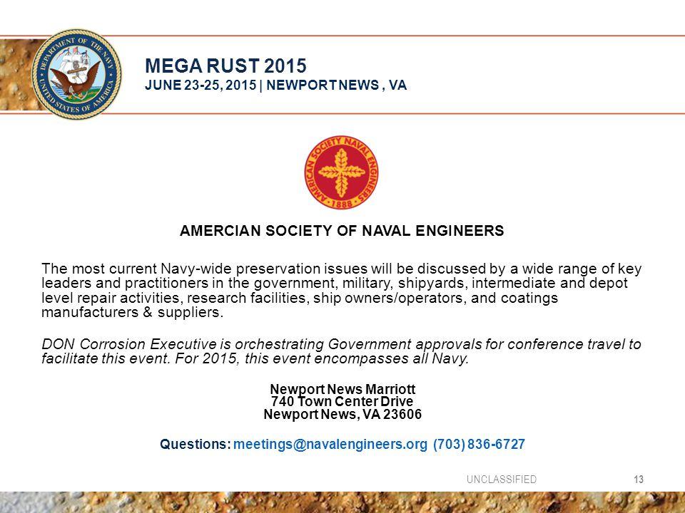 MEGA RUST 2015 JUNE 23-25, 2015 | NEWPORT NEWS , VA