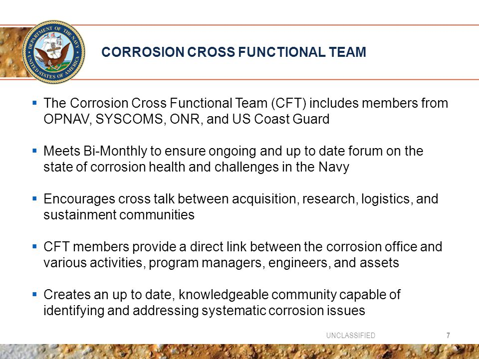CORROSION CROSS FUNCTIONAL TEAM