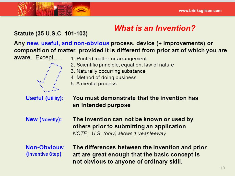 What is an Invention Statute (35 U.S.C. 101-103)