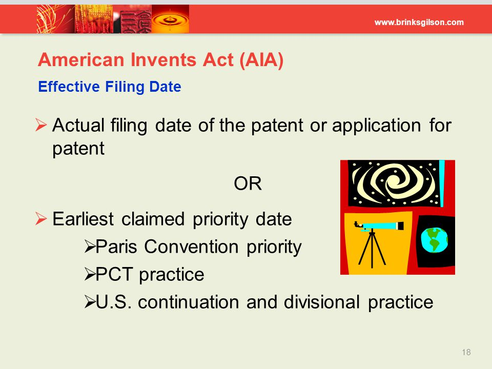American Invents Act (AIA) Effective Filing Date