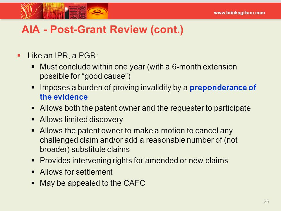 AIA - Post-Grant Review (cont.)