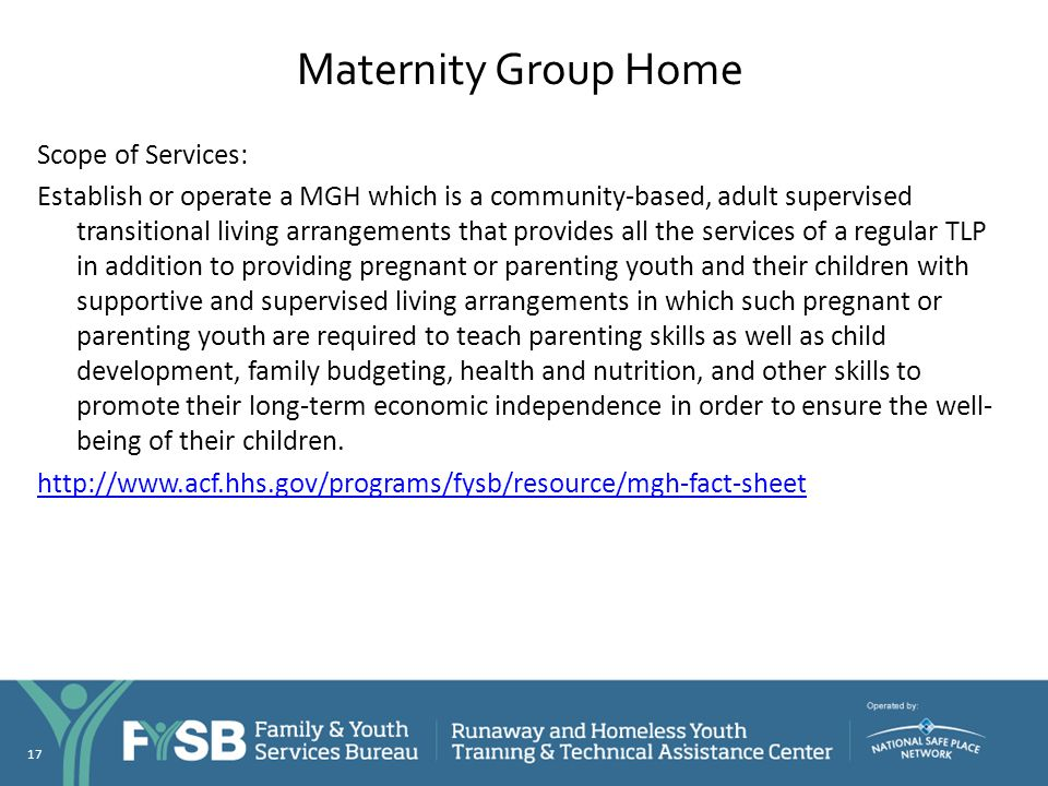 Maternity Group Home
