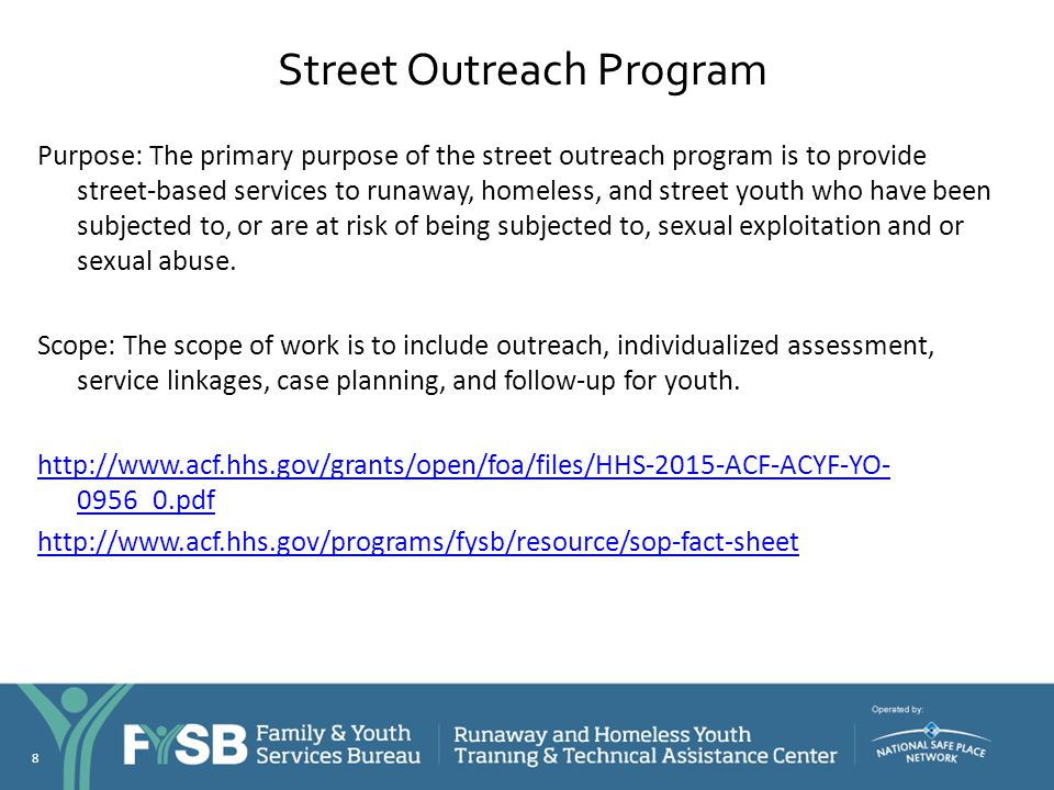 Street Outreach Program