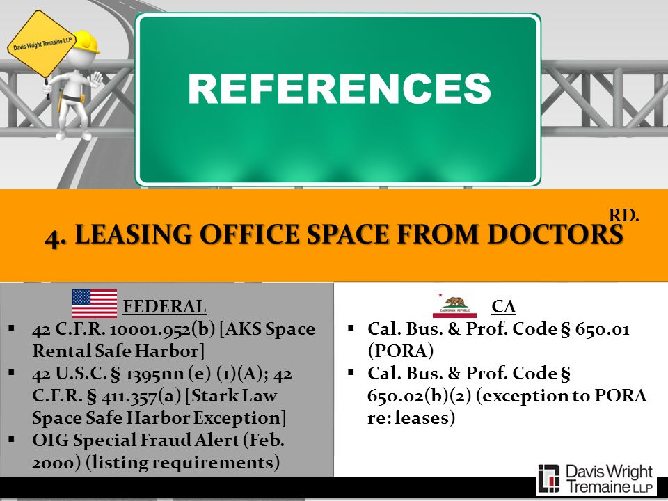 4. LEASING OFFICE SPACE FROM DOCTORS