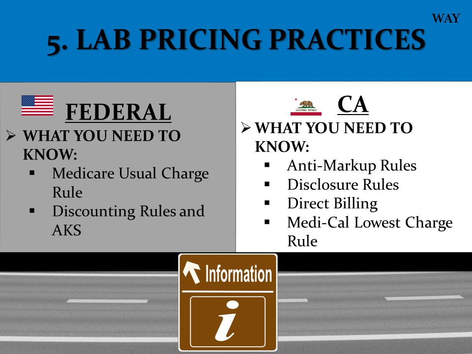 5. LAB PRICING PRACTICES CA FEDERAL WHAT YOU NEED TO KNOW: