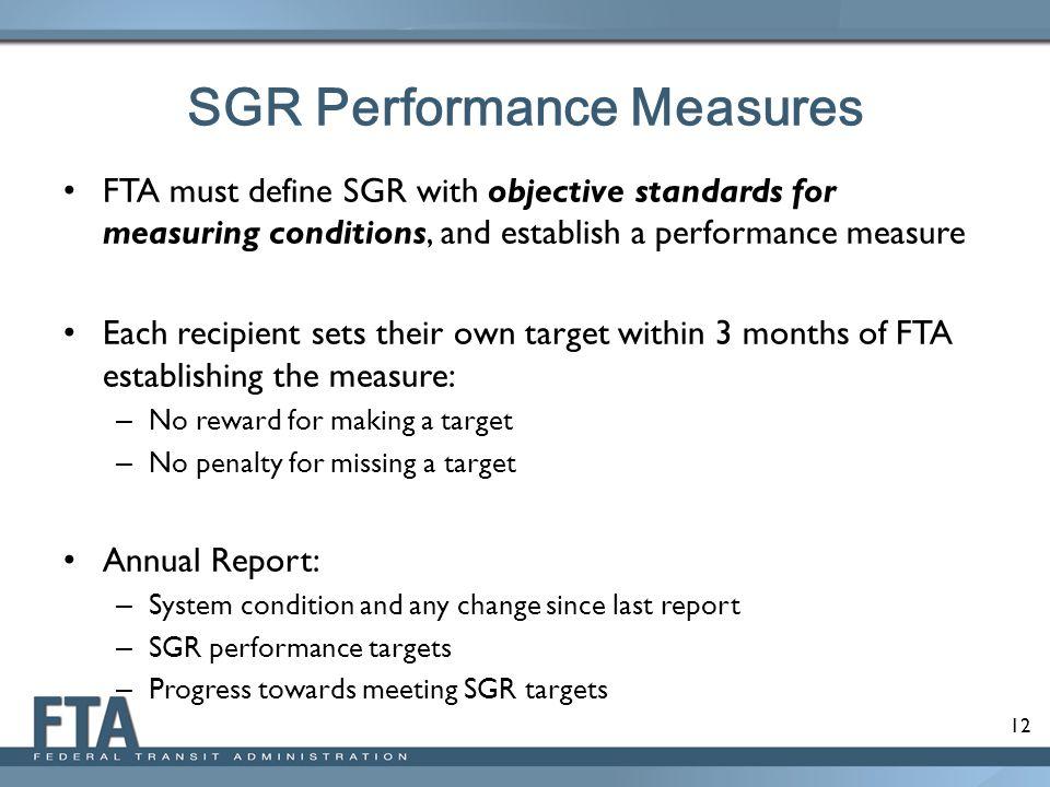 SGR Performance Measures