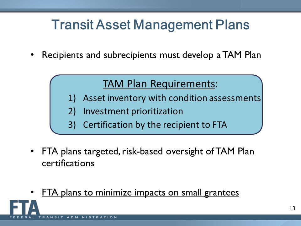 Transit Asset Management Plans