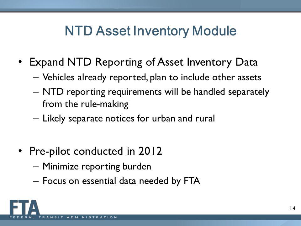 NTD Asset Inventory Module