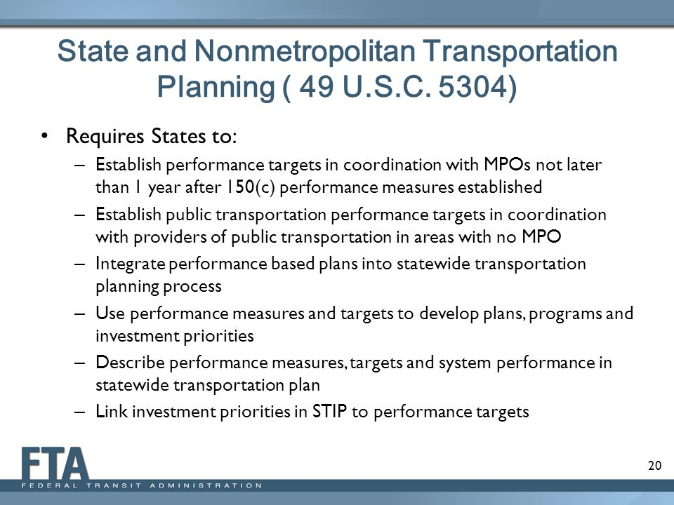 State and Nonmetropolitan Transportation Planning ( 49 U.S.C. 5304)