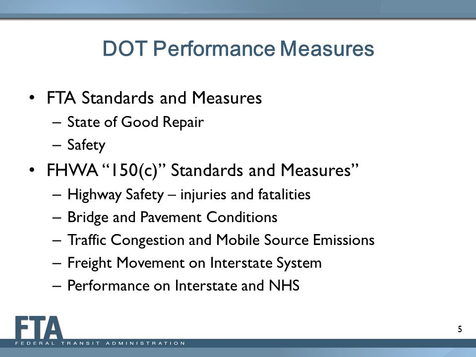 DOT Performance Measures