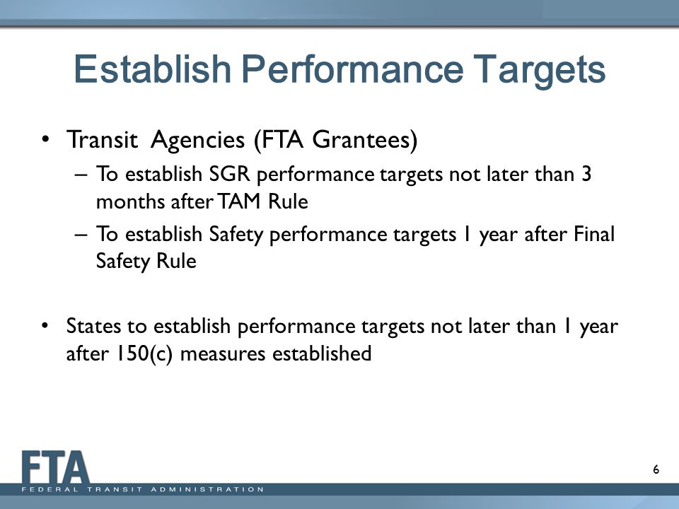 Establish Performance Targets