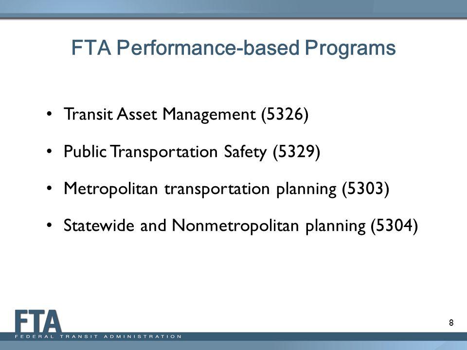 FTA Performance-based Programs