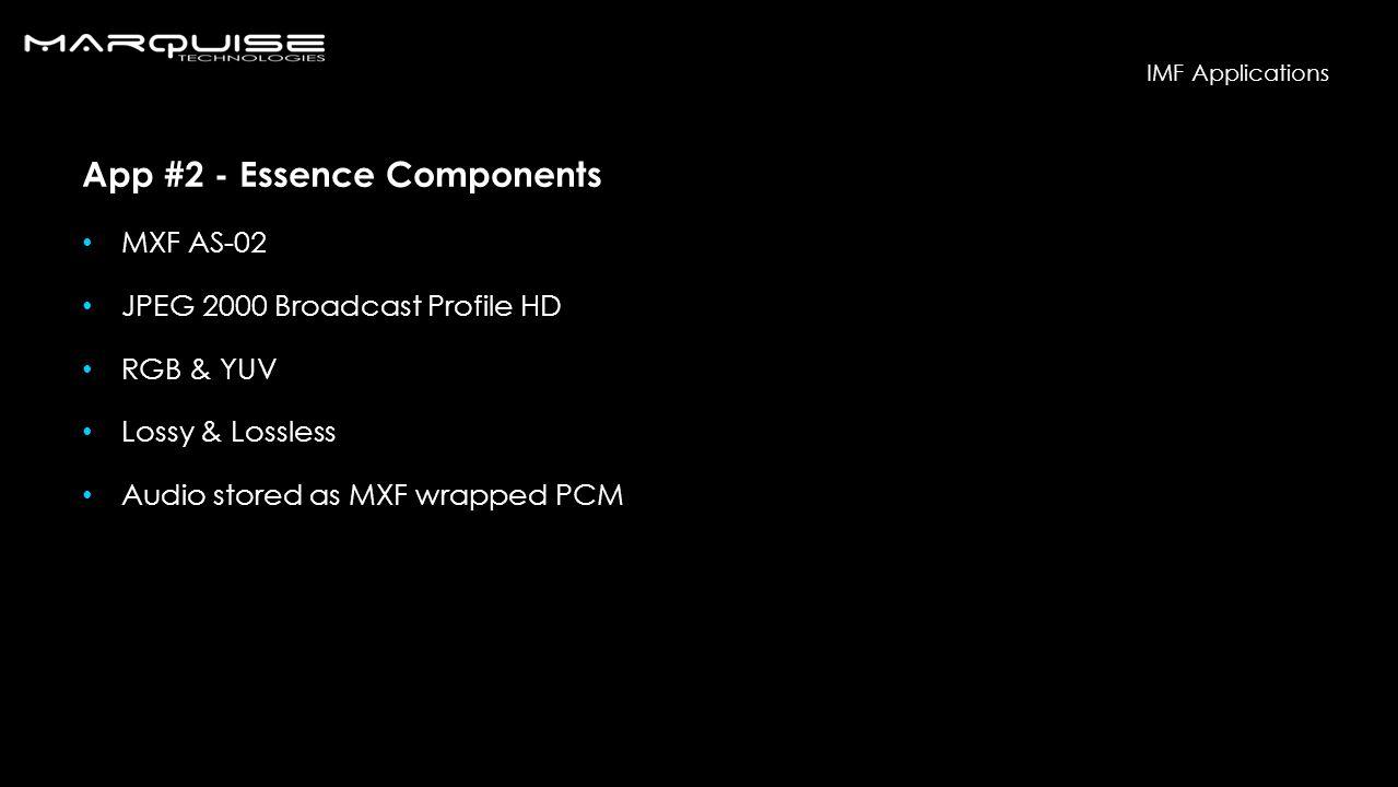 App #2 - Essence Components