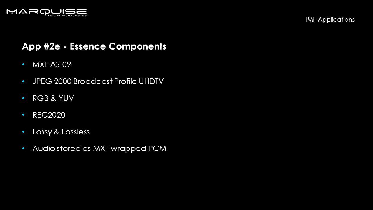 App #2e - Essence Components