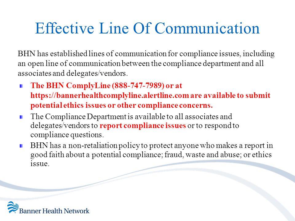 Effective Line Of Communication