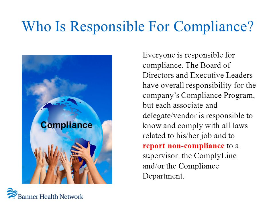Who Is Responsible For Compliance