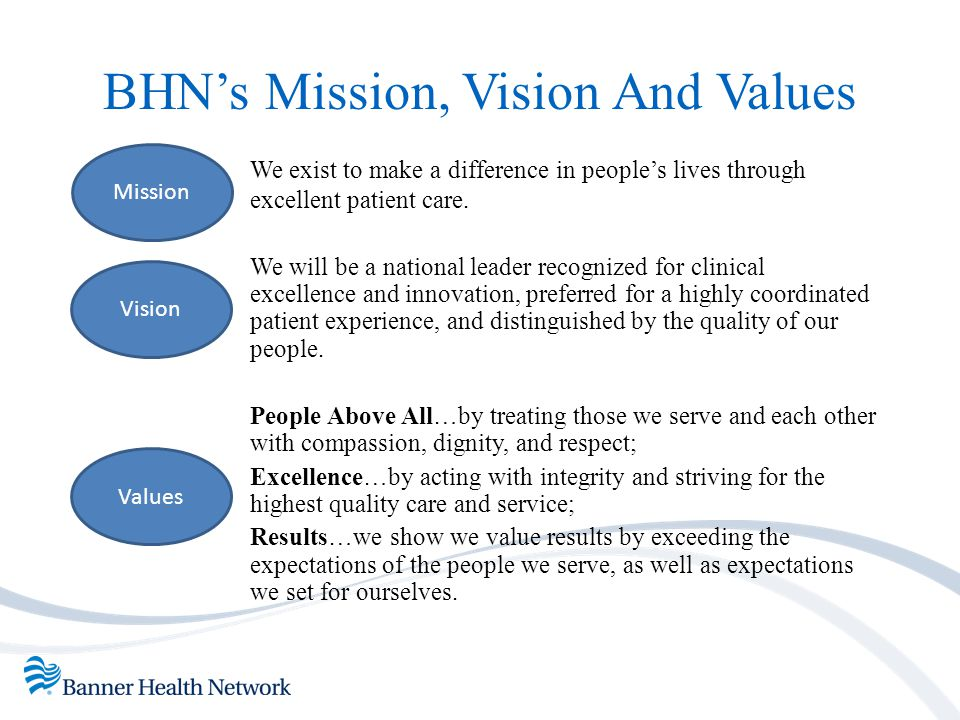 BHN's Mission, Vision And Values