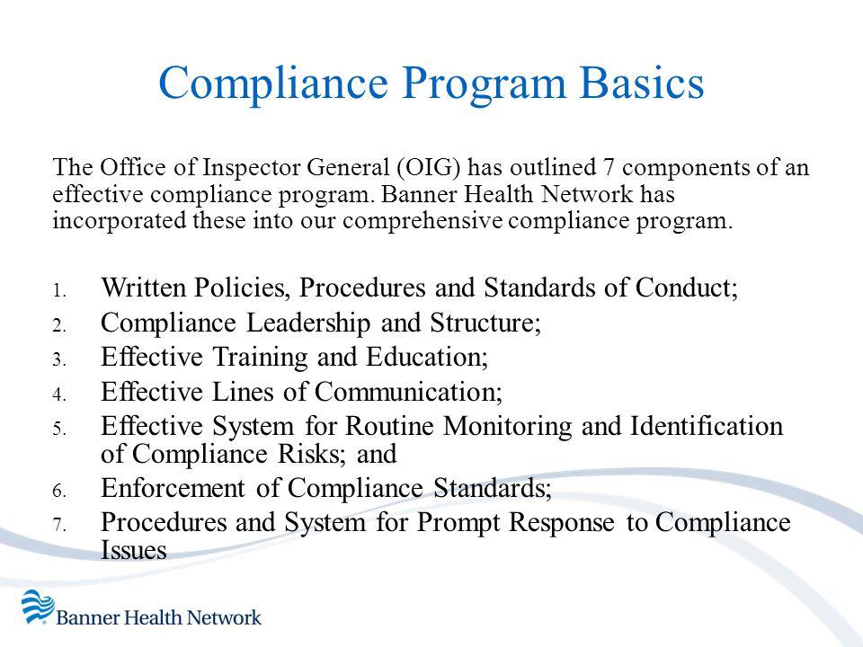 Compliance Program Basics